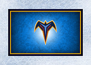 Puck Framed Prints - Atlanta Thrashers Framed Print by Joe Hamilton