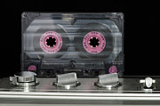 Tape Player Prints - Audio cassette and player Print by Deyan Georgiev