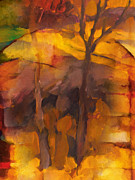 Autumn Trees Painting Posters - Autumn Gold Poster by Lutz Baar