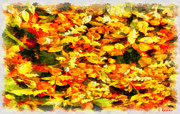 Vacations Art - Autumn leaves by George Rossidis