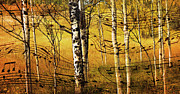 Yellow Leaves Prints - Autumn Sonata Print by Theresa Tahara