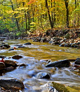 Ebb And Flow Prints - Autumn Stream Print by Robert Harmon
