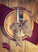 Knife Photos - Autumn Table Setting by Christopher and Amanda Elwell