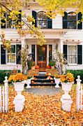 Front Steps Prints - Autumn Vermont Print by Brian Jannsen