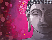 Buddha Paintings - Awakening by Mindah-Lee Kumar