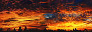 Amazing Sunset Painting Framed Prints - Awe Inspiring Sunset Framed Print by Ellen Henneke