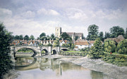 Architecture Pastels - Aylesford Bridge by Rosemary Colyer