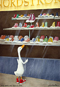 Shoes Painting Prints - Baby Needs A New Pair Of Shoes... Print by Will Bullas