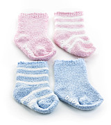 Cotton Photo Posters - Baby socks Poster by Elena Elisseeva