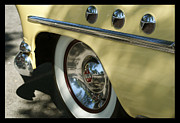 Classic Car Prints - Baby Yellow Buick Print by Joie Cameron-Brown