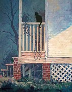 Mjonesart Prints - Back Porch Print by Micheal Jones