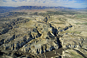 Aerial Photo Posters - Bad lands aerial photo  Poster by Guido Montanes Castillo