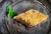 Sticky Framed Prints - Baklava pastry dessert Framed Print by Mythja  Photography