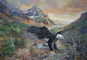 American Eagle Pastels Prints - Bald Eagle Print by Dale Lewis