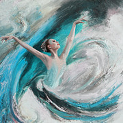 Dance Painting Originals - Ballerina  by Corporate Art Task Force