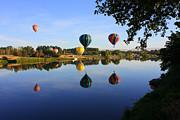 Balloons Heading East Print by Carol Groenen