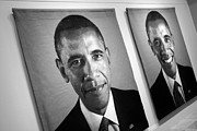 Barack Obama Metal Prints - Barack Obamas Winning Faces Metal Print by Cora Wandel