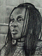 African American Art Drawings Posters - Barbara Poster by Cheryl Riley