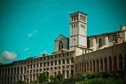 Summer Pyrography Metal Prints - Basilica Of San Francesco Assisi  Metal Print by Raimond Klavins