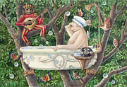 Ann Gates Fiser Art - Bath Tub Serenade by Ann Gates Fiser
