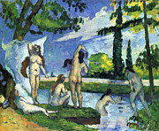 John Peter Posters - Bathers by Cezanne Poster by John Peter