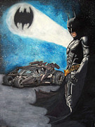 Scott Parker Metal Prints - Batman and The Tumbler Metal Print by Scott Parker