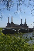 London Skyline Art - Battersea Power Station by David French