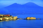 Historic Fortress Digital Art Prints - Bay of Naples Print by Sami Sarkis