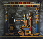 Hieroglyphics Paintings - B.C.  Before Cable by Richard Deurer