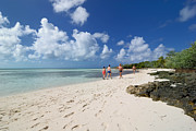 Shoreline Metal Prints - Beach at Coco Cay Metal Print by Amy Cicconi