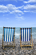 Empty Chairs Photo Posters - Beach Chairs Poster by Joana Kruse