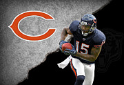 Offense Prints - Bears Brandon Marshall Print by Joe Hamilton