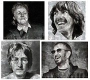 Beatles Digital Art - Beatles by Riccardo Zullian