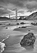 Jamie Pham Metal Prints - Beautiful view of the Golden Gate bridge from Marshalls Beach. Metal Print by Jamie Pham