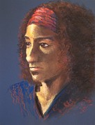 Featured Pastels Prints - Becca - Live Model Painting Print by Yoshiko Mishina