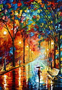 Park Painting Originals - Before the Celebration by Leonid Afremov