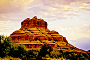 Oak Creek Digital Art Framed Prints - Bell Rock Sedona Az Framed Print by Nadine and Bob Johnston