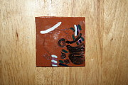 Tiles Ceramics Metal Prints - Bella - tile Metal Print by Gloria Ssali