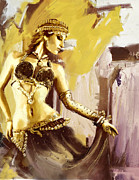 Bellydancer Paintings - Belly Dancer by Corporate Art Task Force