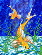 Sea Life Art Prints - Beneath The Waves Print by Jack Zulli