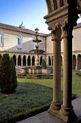 Courtyards Photos - Benedictine Gothic Cloister by Jose Elias - Sofia Pereira