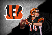 Football Prints - Bengals Andy Dalton Print by Joe Hamilton