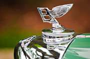 Black And White Photos Photos - Bentley Hood Ornament by Jill Reger