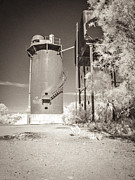 Water Tower Photos - Beresford Siding Outback Australia by Colin and Linda McKie