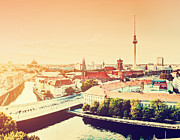 Berlin Germany Posters - Berlin Germany view on major landmarks Poster by Michal Bednarek