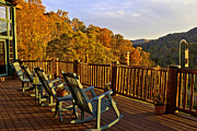 Rocking Chairs Photos - Best View in Town by Lynn Bauer