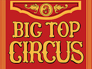 Big Top Framed Prints - Big Top Circus Framed Print by Kristin Elmquist