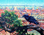 National Parks Paintings - Birds Eye View by Kristy Tracy