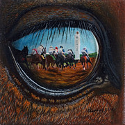 Horserace Paintings - Birds Eye View by Sherryl Lapping