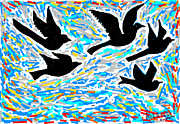 Birds In Flight Print by Anand Swaroop Manchiraju